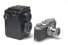Twee oude fotocamera's Royalty-vrije Stock Fotografie