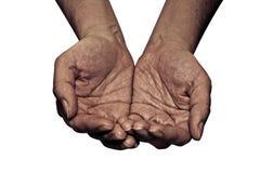 Twee oude handen Royalty-vrije Stock Afbeelding