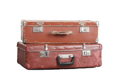 Twee oude koffers. Royalty-vrije Stock Afbeeldingen