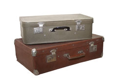 Twee oude koffers Stock Afbeelding
