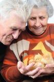 Twee oude mensen Royalty-vrije Stock Foto