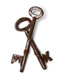 Twee oude sleutels Royalty-vrije Stock Afbeelding