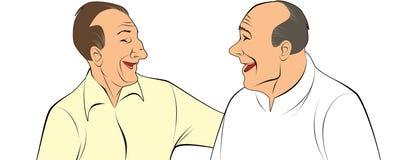 Twee oude vrienden stock illustratie