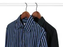 Twee overhemden op een rek Royalty-vrije Stock Foto
