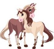 Twee paarden vector illustratie
