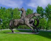 Twee paardenstandbeeld Stock Fotografie