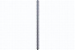 Twee-pagina blanco pagina's met geregelde lijnen Stock Fotografie