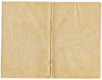 Twee pagina's van een oud grungedocument stock fotografie
