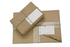 Twee Pakketten/Pakketten stock afbeeldingen