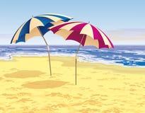 Twee paraplu's vector illustratie