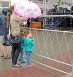 Twee paraplu's stock afbeelding
