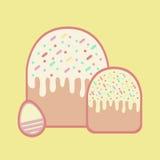 Twee Pasen cake en een ei voor Pasen Royalty-vrije Stock Foto
