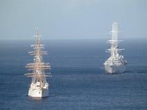 Twee passagiersschepen in de Baai van Admiraliteit. Royalty-vrije Stock Foto's