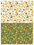 Twee patronen met bladeren Royalty-vrije Stock Afbeeldingen