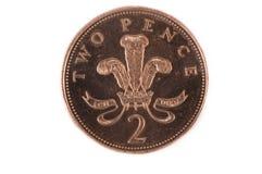 Twee pence stock afbeelding