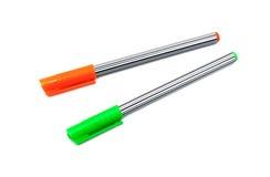 Twee pennen royalty-vrije stock afbeelding
