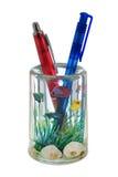 Twee pennen in container (als een aquarium) Royalty-vrije Stock Fotografie
