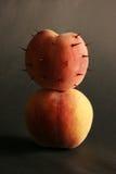 Twee perziken. Royalty-vrije Stock Afbeelding