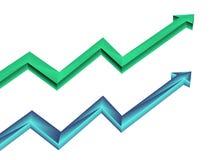 Twee pijlen Royalty-vrije Stock Afbeelding