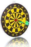 Twee pijltjes in bullseye Stock Afbeelding