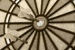 Twee pijltjes op een dartboard, Gekleurd beeld Royalty-vrije Stock Foto's