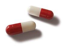 Twee pillen Stock Foto's