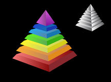 Twee piramides Royalty-vrije Stock Fotografie