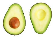Twee plakken van avocado Stock Fotografie