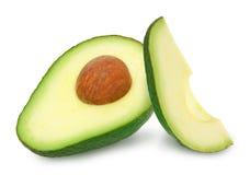 Twee plakken van avocado Royalty-vrije Stock Foto