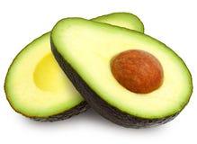 Twee plakken van avocado Royalty-vrije Stock Foto's