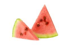 Twee plakken van watermeloen Royalty-vrije Stock Afbeelding