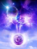 Twee planeten Stock Afbeelding