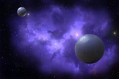 Twee planeten royalty-vrije illustratie