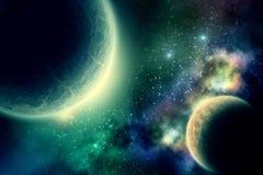 Twee planeten Stock Foto's