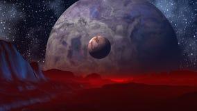 Twee planeten stock videobeelden