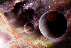 Twee planeten royalty-vrije stock afbeeldingen