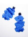 Twee plastic verpletterde flessen Royalty-vrije Stock Foto's