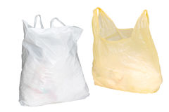 Twee plastic zakken Royalty-vrije Stock Foto