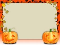 Twee pompoenen vector illustratie