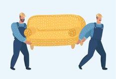Twee portiers dragen bank stock illustratie