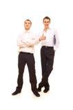 Twee positieve zakenlieden Stock Afbeeldingen