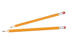 Twee potloden royalty-vrije stock afbeeldingen