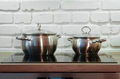 Twee potten Royalty-vrije Stock Foto