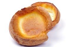 Twee puddingen van Yorkshire Royalty-vrije Stock Foto's