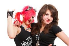 Twee punkmeisjes Stock Afbeelding