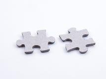 Twee Stukken van Puzzel van de Figuurzaag Royalty-vrije Stock Fotografie