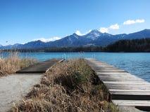 Twee raadsgangen in Wörthersee, een meer in Oostenrijk stock foto's