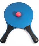 Twee rackets en bal Stock Afbeelding
