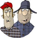 Twee Rednecks royalty-vrije illustratie