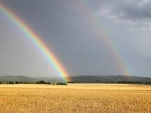 Twee regenbogen royalty-vrije stock foto